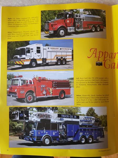 Fire Apparatus Journal Nov-Dec 2020 Photo by CFPA Vice President Mike Quinn (Top Photo)