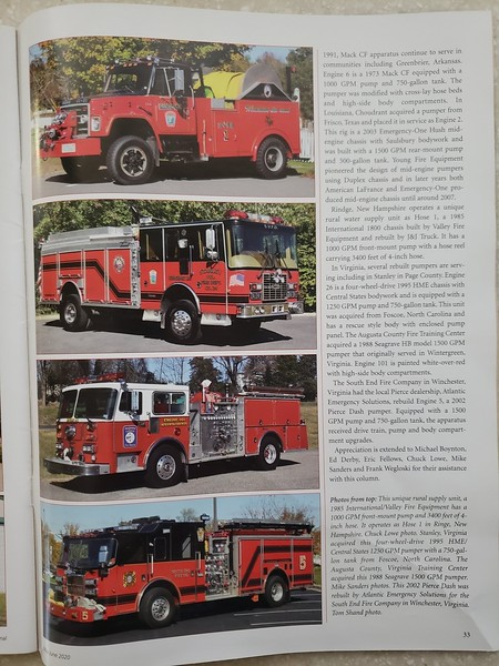 Fire Apparatus Journal May-June 2020 Photos by CFPA Massachusetts Members Chuck Lowe and Eric Fellows