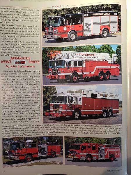 Fire Apparatus Journal Sep-Oct 2020 Photo by CFPA Massachusettes Member Eric Fellows