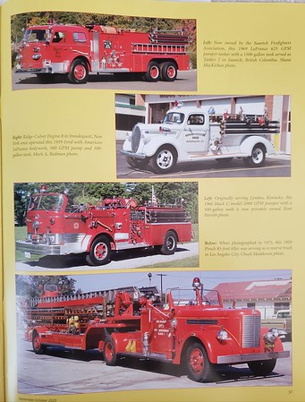Fire Apparatus Journal Sep-Oct 2020 Photo by CFPA Connecticut Member Mark Redman