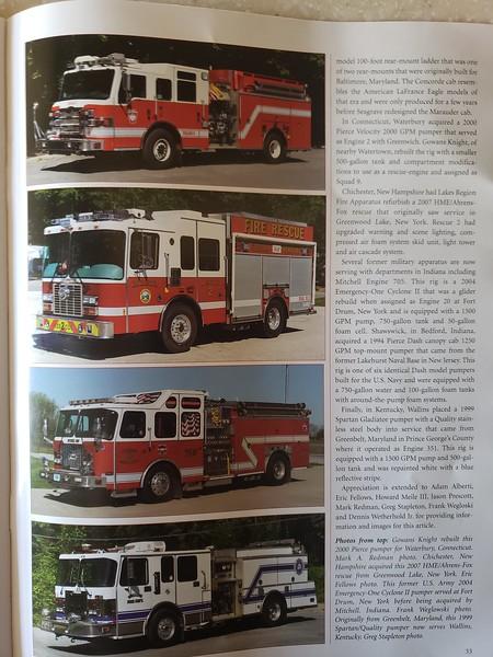 Fire Apparatus Journal Nov-Dec 2020 Photos by CFPA Connecticut Member Mark Redman and Massachusetts Member Mark Redman