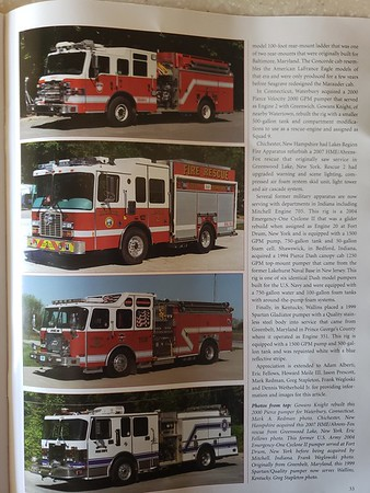 Fire Apparatus Journal Nov-Dec 2020 Photos by CFPA Connecticut Member Mark Redman and Massachusetts Member Mark Redman