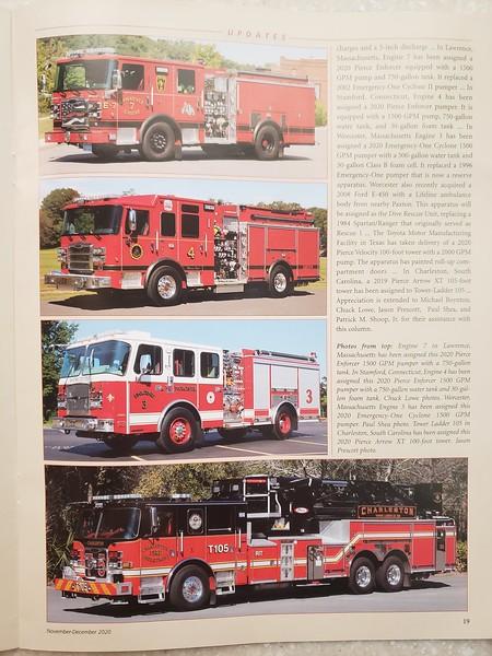 Fire Apparatus Journal Nov-Dec 2020 Photos by CFPA Massachusetts Members Paul Shea and Chuck Lowe