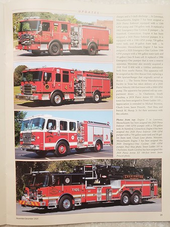 Fire Apparatus Journal Nov-Dec 2020 Photos by CFPA Massachusetts Members Paul Shea and Chuck Lowe