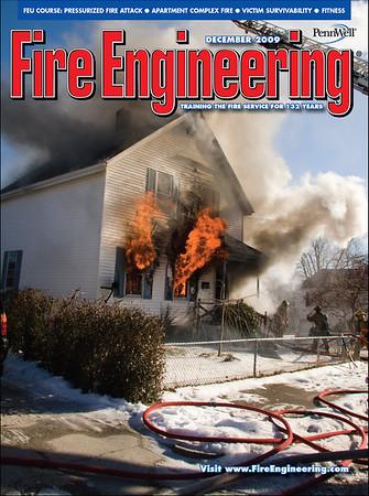 Fire Engineering December 2009 Cover by CFPA Rhode Island Member Ken LaBelle