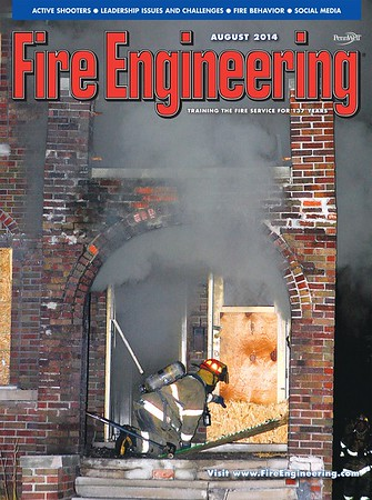 Fire Engineering August 2014 Cover by CFPA Florida Member Scott LaPrade