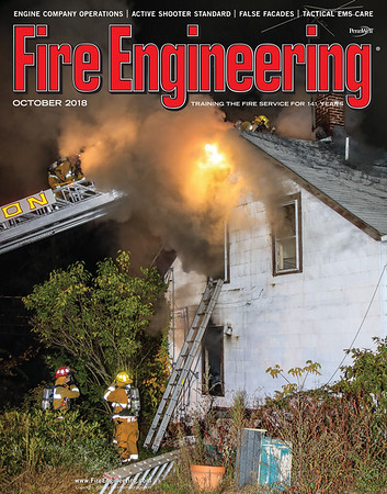 Fire Engineering Oct 2020 Cover by CFPA Rhode Island member Ken LaBelle