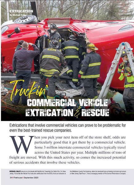 Firehouse Magazine September 2020 Extraction Feature by CFPA Massachusetts Member Paul Shea