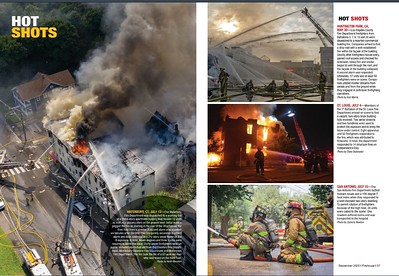 Firehouse Magazine September 2020 Hot Shots by CFPA Connecticut Member Keith Muratori and Texas Member Zack Newton