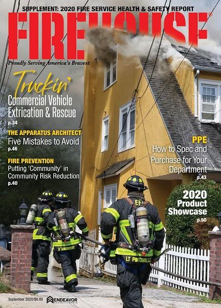 Firehouse Magazine September 2020 Cover by CFPA Connecticut Member Jon Tenca