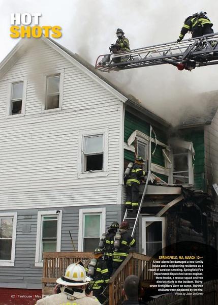 Firehouse Magazine May 2020 Hot Shot by CFPA Massachusetts Member John DeForest