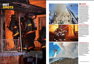 Firehouse Magzine Oct 2020 Hot Shots for CFPA Massachusetts Member David Bryce (Left) and New York Dave Kempter (Top Right)