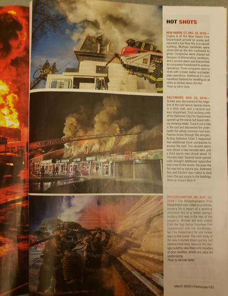 Firehouse Magazine March 2020 Hot Shot by CFPA President Glenn Duda