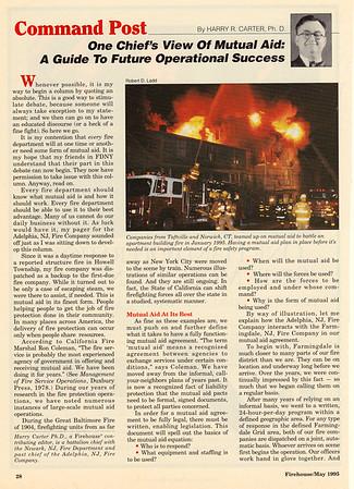 CFPA member Rob Ladd, Firehouse Magazine May 1995