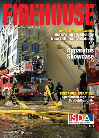 Firehouse Magazine November 2017 Cover by CFPA Florida Member Scott LaPrade