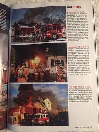 Firehouse Magazine April 2018 Hot Shot by CFPA Massachusetts Member Ken Leger