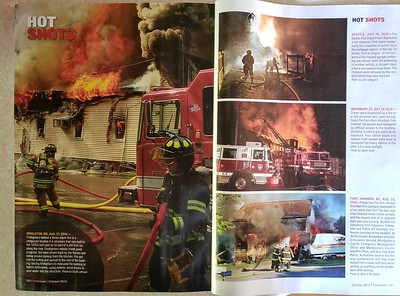 CFPA member Scott LaPrade (Left) and CFPA President Glenn Duda (Middle Right), Firehouse Magazine October 2018.