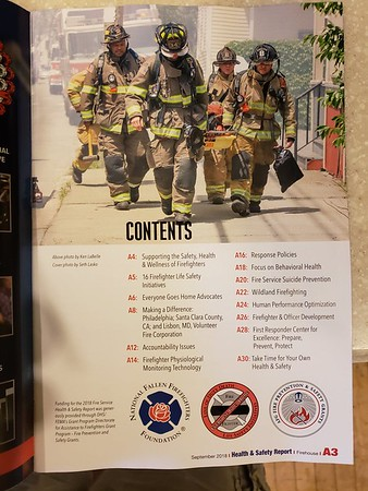 CFPA member Ken LaBelle, Firehouse Magazine September 2018
