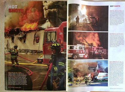 Firehouse Magazine October 2018 Hot Shots from CFPA Florida Member Scott LaPrade and President Glenn Duda