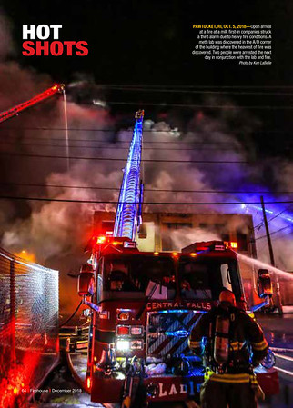 Firehouse Magazine December 2018 Hot Shot by CFPA Rhode Island Member Ken LaBelle