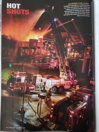 Firehouse Magazine February 2019 Hot Shot by CFPA Texas Member Zack Newton