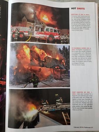 Firehouse Magazine February 2019 Hot Shot by CFPA Connecticut Member Jon Tenca