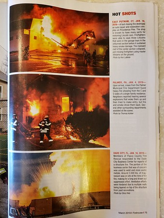Firehouse Magazine March 2019 Hot Shot by CFPA Rhode Island Member Ken LaBelle