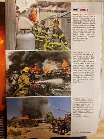 Firehouse Magazine September 2019 Hot Shot by CFPA Member Doc Johnson