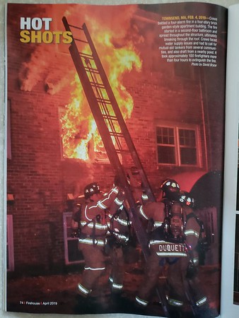 Firehouse Magazine April 2019 Hot Shot by CFPA Massachusetts Member David Bryce