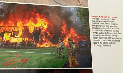 Firehouse Magazine August 2019 Hot Shot by CFPA Rhode Island Member Ken LaBelle.