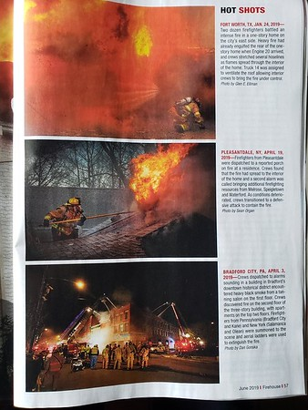 Firehouse Magazine June 2019 Hot Shot by CFPA New York Member Dan Gonska