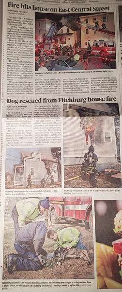 Photos in Worcester Telegram and Gazette by CFPA Massachusetts Members Paul Shea and David Bryce