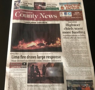 Photo in Livingston County News by CFPA New York Member Jeff Arnold