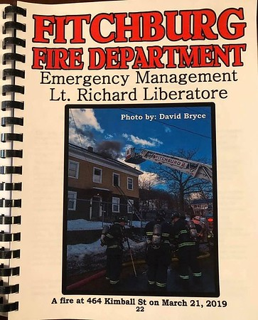 2019 Fitchburg Fire Report Cover by CFPA Massachusetts Member David Bryce
