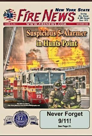 Fire News NYS November 2020 Cover by CFPA New York Member Chris Clarke