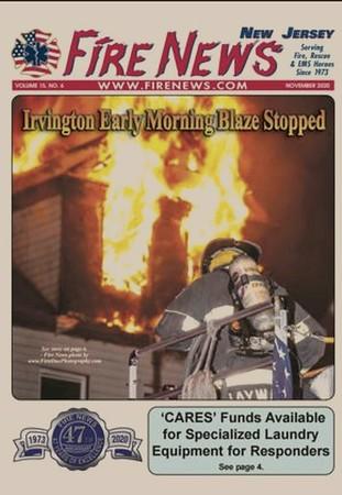 Fire News NJ December 2020 Cover by CFPA New York Member Chris Clarke
