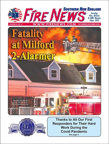 Fire News NE Nov-Dec 2020 Cover by CFPA Connecticut Member Keith Muratori