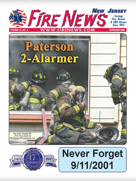 Fire News NJ September 2020 Cover by CFPA Connecticut Member Jon Tenca.