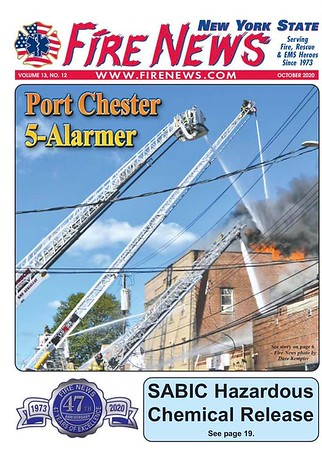Fire News NYS October 2020 Cover by CFPA New York Member Dave Kempter