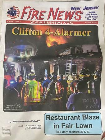 Fire News NJ October 2020 Cover by CFPA New York Member Chris Clarke