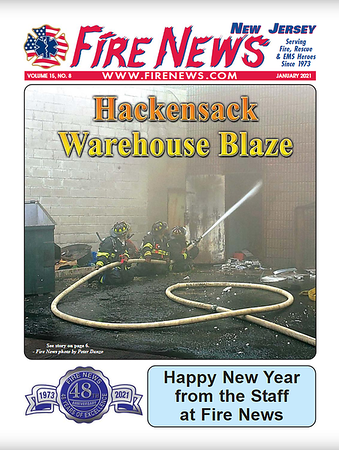 Fire News NJ January 2021 Cover by CFPA New Jersey Member Pete Danzo