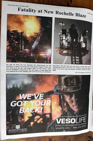 CFPA member Jon Tenca, Fire News November 2016
