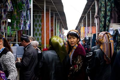Fabric market, Uzbekistan