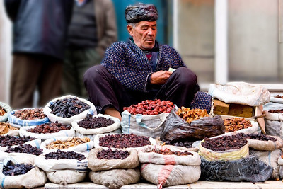 Dried fruit seller, Uzbekistan