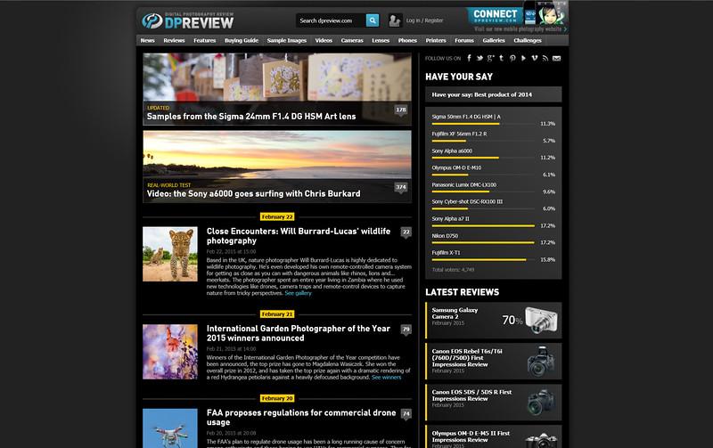 2015-02-22 Website dpreview com