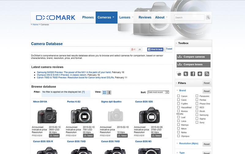 2015-02-22 Website dxomark com