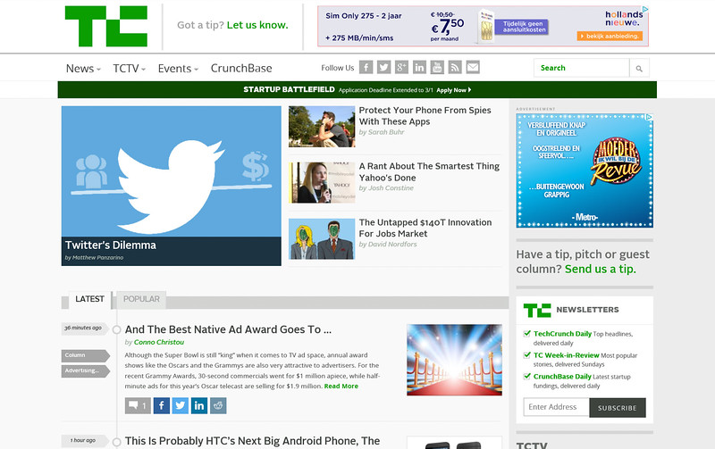 2015-02-22 Website techcrunch com