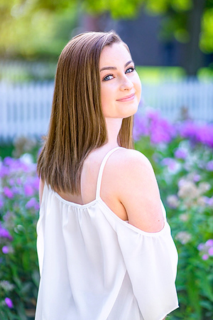 Anna DelVero Senior Photo Shoot Mill Race Village August 2017