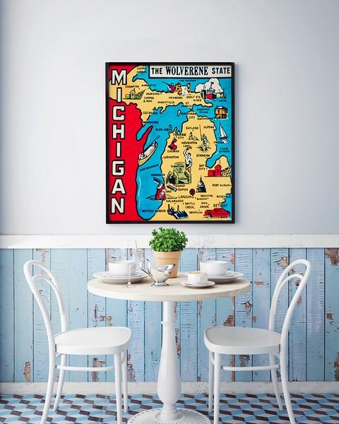 mock up poster with vintage hipster cafe restaurant interior