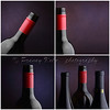 Wine bottle collage - four images